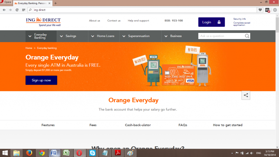 ING Direct Orange everyday account