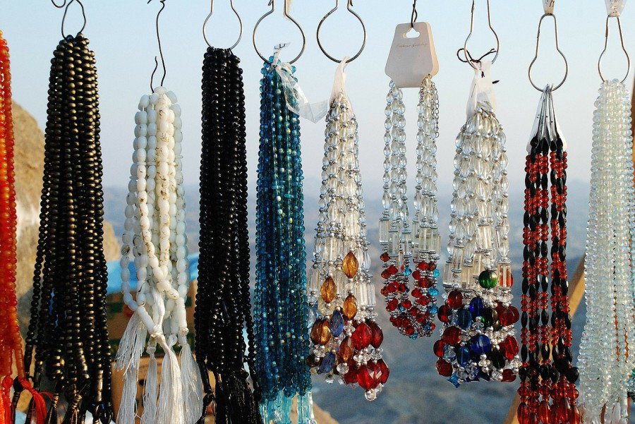 jewellery selling at a market