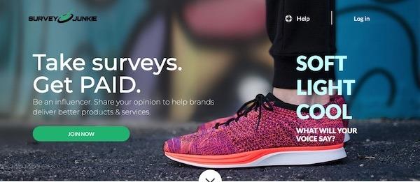 survey junkie signup page