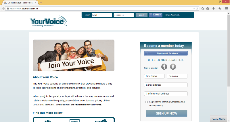yourvoice survey site australia